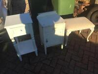 Furniture bedside table stool and cupboards £10 each