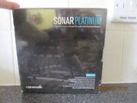 SONAR PLATINUM MIDI MUSIC SEQUENCER DAW PC WINDOWS 32 / 64-BIT BOXED NEW.
