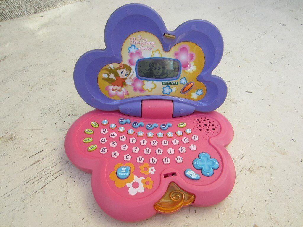 Child's Petal Power Laptop, IQ Builders, pink/purple, electronic