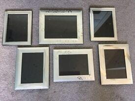 6 x Silver Frames