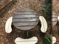 Wooden children's picnic table