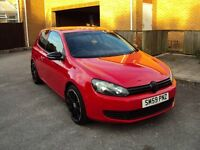 VOLKSWAGEN GOLF 1.4 S 3 DR HATCHBACK RED BLACK EDITION SAT-NAV+DVD+TOUCH SCREEN+AUX EXTRAS MOT 4450