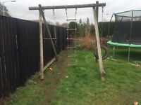Very sturdy wooden swing set