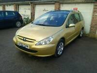 Peugeot 307 sw 7 Seater! 1.6 petrol climate control sunroof