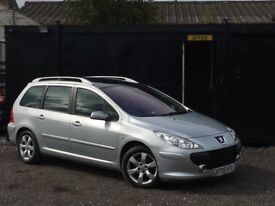 ★ PEUGEOT 307SW 1.6 HDi S ESTATE + 5 DOOR + DIESEL + 105K MILES + FACELIFT ★