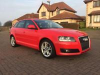Audi A3, 1.9 TDIe Sport, 5 Door in Red, good mpg, cheap tax