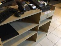 Shop counter reception desk glass display unit