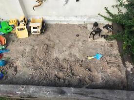 Free Kids Sand pit Sand