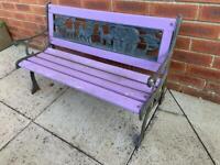 Kids wooden garden bench