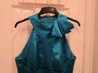 Karen Millen dress, teal/turquoise, size 14, brand new with tags