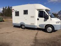 fiat rollerteam 2 berth,only 55k miles with full service history,large heiki roof,see video!