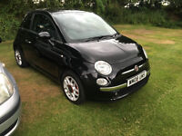 Fiat 500 1.4 16v Sport,2008 Black,Leather,Aircon,CD,MP3,USB,Alloys,1 Owner,Full history,CAMBELT Done
