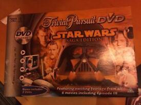 Sta Wars saga edition trivial pursuit w/dvd