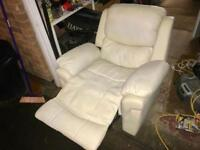 Leather recliner armchair. Can deliver