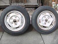 """Ford transit wheels &tyres 175/70.16"""" 2 OFF. Barum Vanis make. £25 each."""