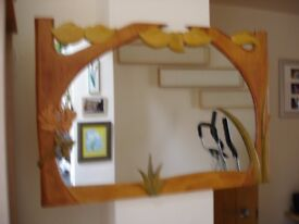 Unique Handcrafted 'IMAGINE' Wooden Wall Mirror by Frankie Martin