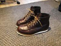 """Redwing 6"""" moc toe boots. Brown leather. Hardly worn. SIZE 8"""