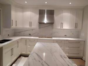 Quartz~Granite Countertop starts from $38/sqft on most popular colors, with Satisfaction Guaranteed!