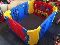 Little Playzone Playpen with Electronic Lights and Sounds Play Yard