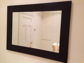 John Lewis Mirror with Expresso Brown Solid Wood Frame
