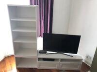 Ikea TV unit and shelves