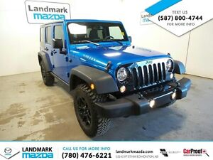 2015 Jeep Wrangler Unlimited Sport 4wd / WILLY PACKAGE/ LOW KMS!