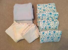 Selection of muslin cloths