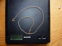 """Solid Gold 18"""" chain"""