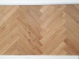 Laminate Herringbone Flooring £21.60m2 (£22.50 per pack)