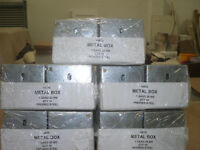 10 x Single Metal 1 Gang Back Box - 25mm deep for electric wall socket or switch