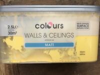 B and q warm yellow paint