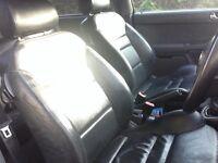 Black Leather seats interior a3 golf mk4 bora leon Toledo gti
