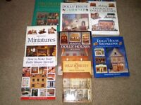 COLLECTION OF DOLL HOUSE & MINIATURE BOOKS