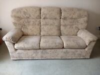 G Plan 3 Piece Suite, 3 Seat Settee, Armchair & Reclining Armchair