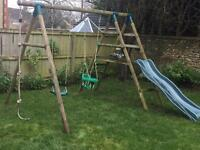 Plum outdoor play frame (inc swings, slide and rope)