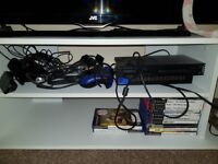 Ps2 with games and pads memory card included
