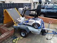 Quingo mobility scooter and special trailer with ramp.