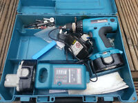 Makita Drill Driver 6347D,With Charger,2 Batteries & case
