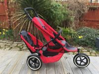 Phil&Teds Red Sport All Terrain Double Buggy