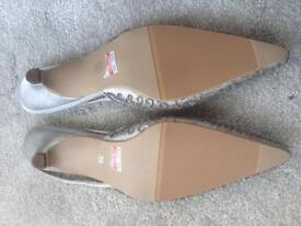 Brand new Silver sandals x2