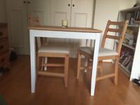 IKEA Table set with 2 chairs LERHAMN
