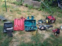 assortment of power tools, 110 planer, 2 stroke genny etc etc £260 no offers