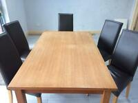 Solid Oak table & 6 chairs for sale