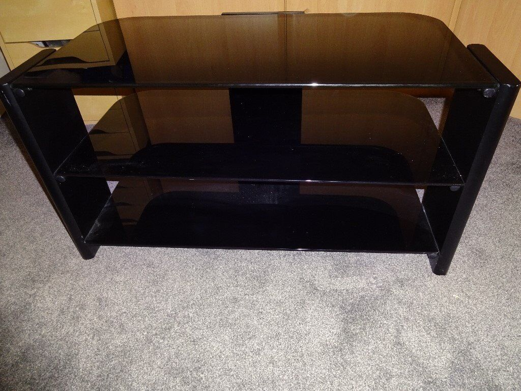 Black Smoked Glass Tv Stand In Bolton Manchester Gumtree