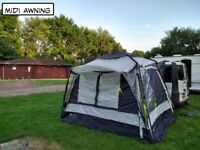 Drive away awning and bedroom annex with sleeping pod.