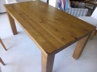Solid Oak Dining Table seats 6 Used:
