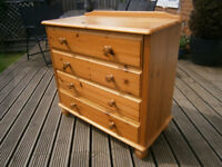 Farmhouse Solid Pine Chest Of 4 Drawers Shabby Chic Project ?
