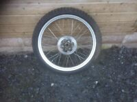 """Gas gas 21"""" trials wheel and tire with floating brake disc"""