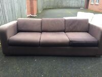 Habitat 4 seater sofa in brown - Free to a good home