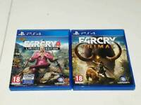 Far Cry Primal and 4 PS4